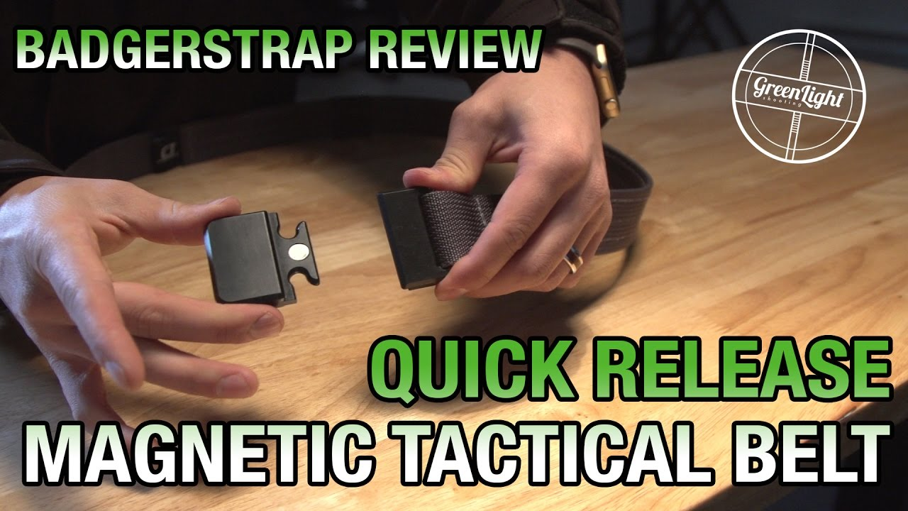 Quick Release Tactical Belt - Badgerstrap Belt Review