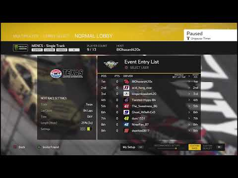 Texas Motor Speedway Finish