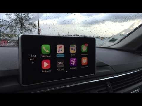 Apple CarPlay sur Audi A4 2016 - YouTube