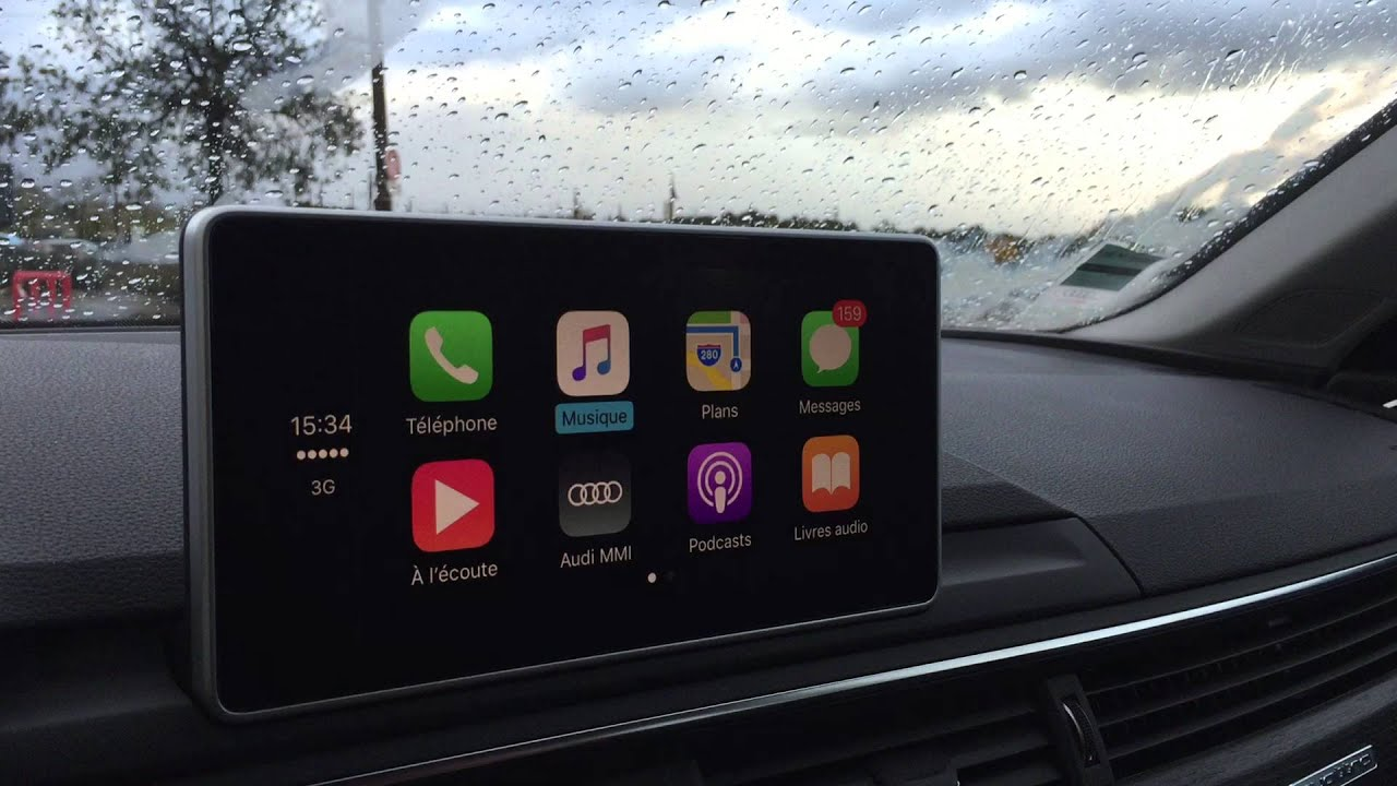 Apple CarPlay Sur Audi A YouTube - Audi car play