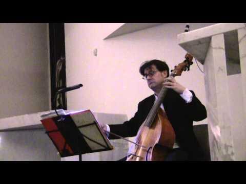 J.S. BACH, Courante from suite n.1 BWW 1007 -Michele Veronese - Viola da gamba