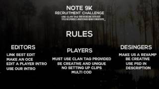 NOTE 9K RECRUITMENT CHALLENGE (ENDED)