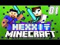 Minecraft Mods  - HEXXIT #1 'VOLCANO!' w/ Vikkstar & Ali-A (Minecraft Mod Pack Survival)