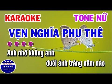 Karaoke Vẹn Nghĩa Phu Thê   Vọng Kim Lang   Nhạc Sống Tone Nữ