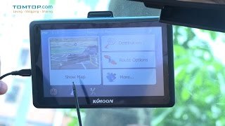 KKMOON 7inch HD Touch Screen Car Portable GPS Navigator  Car Entertainment System with Free Map