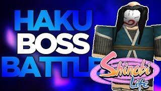 HAKU BOSS BATTLE! | Roblox Shinobi Life 2 | iBeMaine