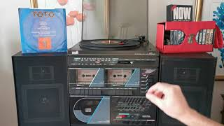 We Made It ~ Toto ~ 1982 CBS 45rpm ~ 1980's Amstrad CDX400 CD Midi Music System