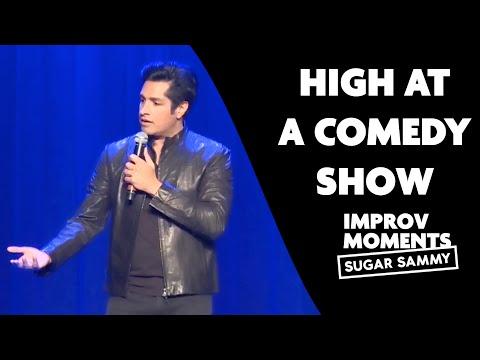 High at a comedy show | Sugar Sammy | Improv comedy