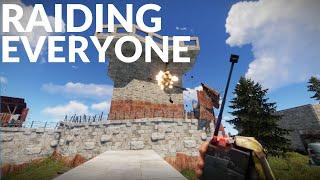 ONLINE RAIDING EVERYONE ON THE SERVER! | Vanilla Rust