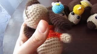 Вязание крючком. Собачки амигуруми на Новый год