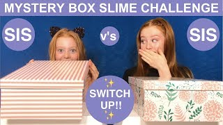MYSTERY BOX SLIME SWITCH UP CHALLENGE | SIS v's SIS | Ruby & Raylee