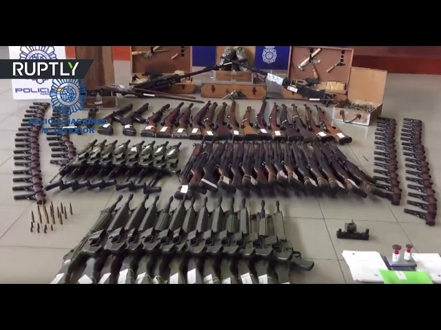 Spanish police seize €10mn worth of vintage black-market arms, including anti-aircraft weapons
