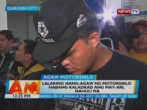 Lalaking nang-agaw ng motorsiklo, habang kaladkad ang may-ari, nahuli na