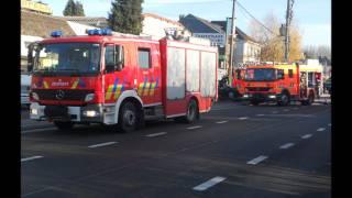 pompier de liège  incendie Awans