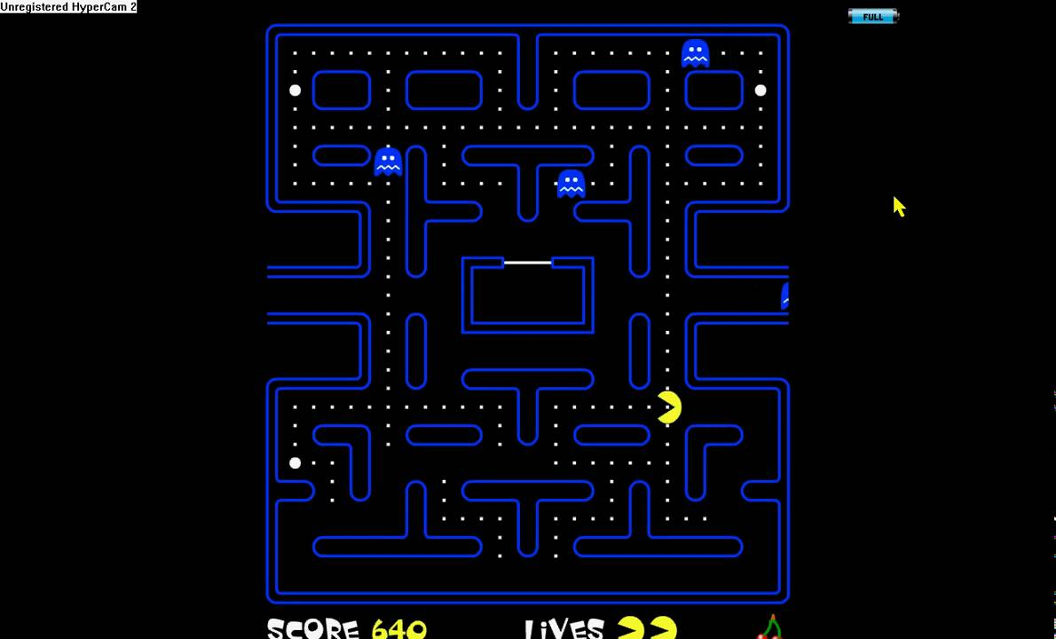 play pacman full screen