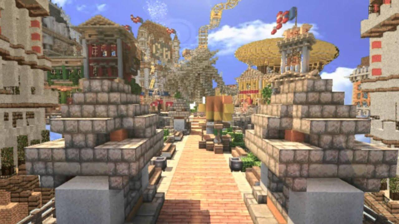 Minecraft Bioshock Infinite Columbia Trailer Youtube