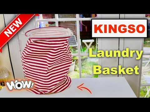 😍  KINGSO Foldable  Laundry Basket - Review  ✅