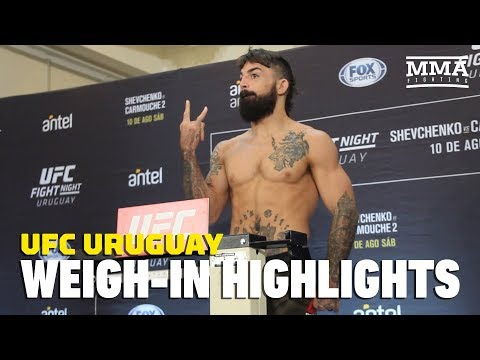 UFC Uruguay Official Weigh-in Highlights - MMA Fighting