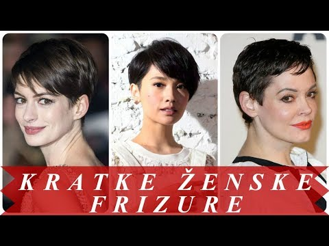 Najljepše kratke ženske frizure crna kosa #1