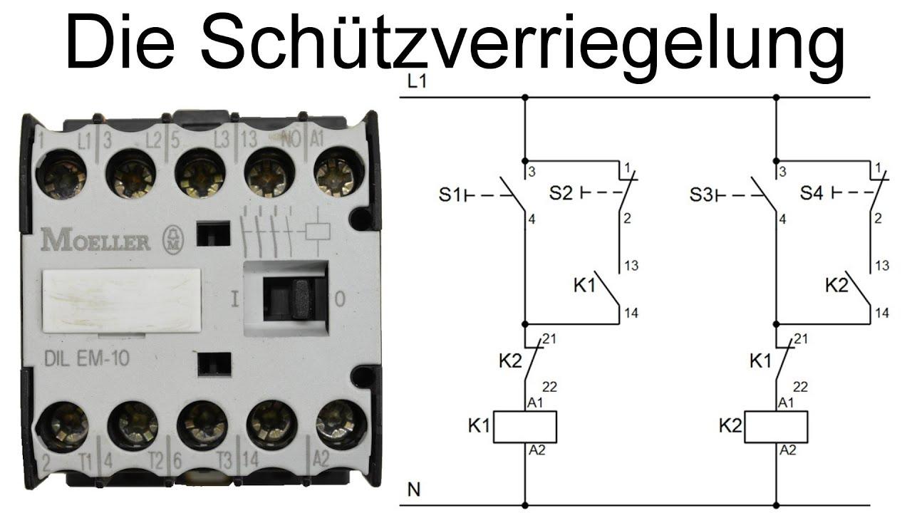 Schützschaltung - Verriegelung von Schützen (Schützverriegelung ...