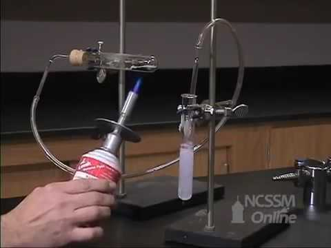 Copper Carbonate Heated, Gas Bubbled Through Lime Water