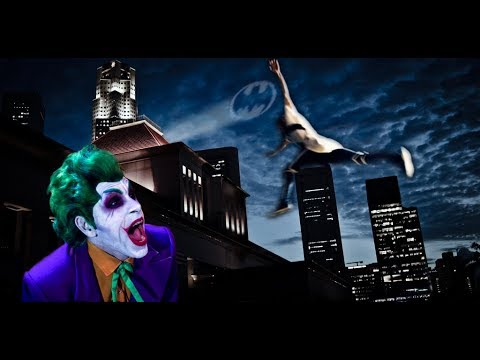 Batman vs.  Joker Meets Parkour in Real Life