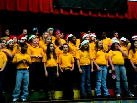 Adairsville Elementary School Christmas Choir - Up on the rooftop rap