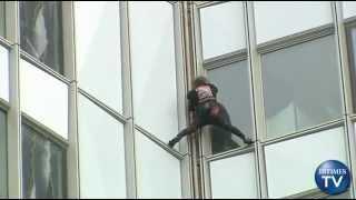 Self Proclaimed 'Spider-Man' Climbs France's Tallest Tower with His Bare Hands