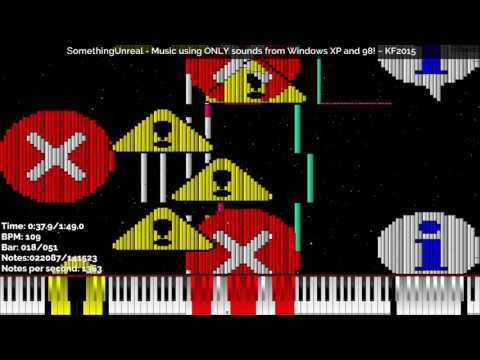[Black MIDI] SomethingUnreal - Music using ONLY sounds from Windows XP and 98! 141K Notes ~ KF2015