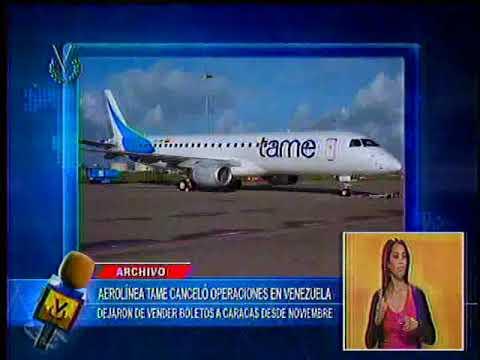 Aerolínea ecuatoriana Tame dejó de prestar servicios en Venezuela