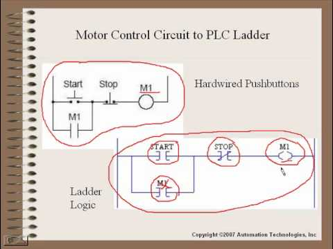 plc training - introduction to plc ladder logic, part 1 ... control wiring ladder diagrams old control box wire diagrams