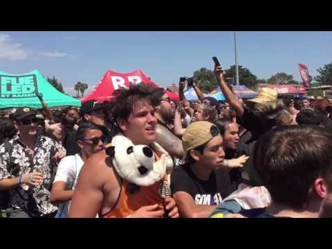 Goldfinger 99 Red Balloons live at the Vans Warped Tour 2017 Pomona Ca