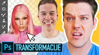 NAJLUĐE PHOTOSHOP TRANSFORMACIJE! | Dennis Domian