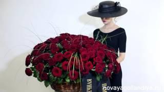 Траурная корзина красных роз с лентой(Траурная корзина красных роз с лентой. Заказать цветы на сайте http://goo.gl/SqnkWT или по бесплатному телефону:..., 2016-01-15T09:50:06.000Z)