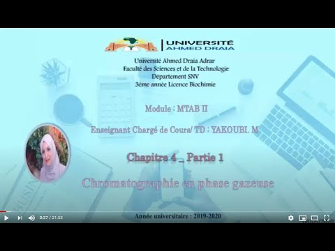 Cours: Chromatographie en Phase Gazeuse CPG