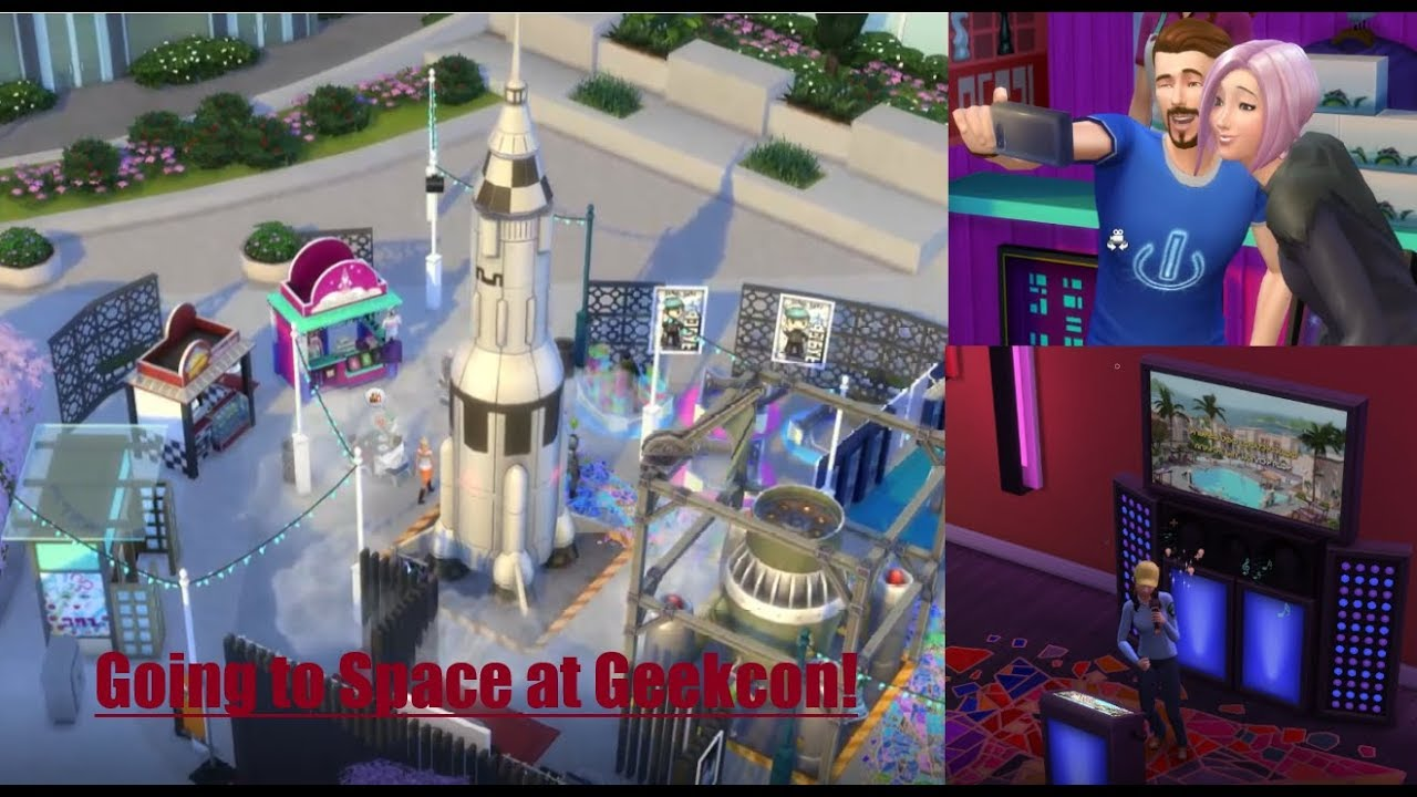 #4 Going to space at Geekcon - Sims 4