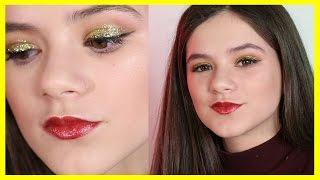 Glittery Gold New Year's Eve Makeup Tutorial   KITTIESMAMA