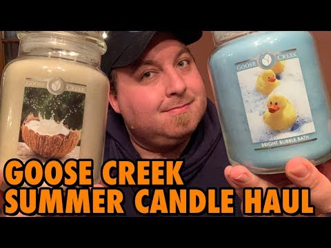 Goose Creek Candle NEW Summer Candle Haul | New 2019