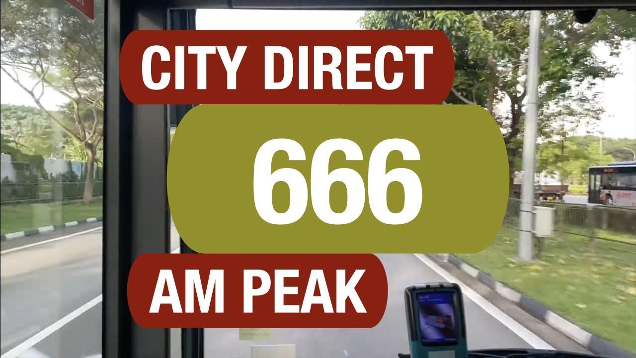 Singapore Go-Ahead City Direct Bus 666 (Morning Peak) Route Visual