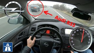 OPEL INSIGNIA 2.0 CDTI TOP SPEED ON GERMAN AUTOBAHN MAX ACCELERATION