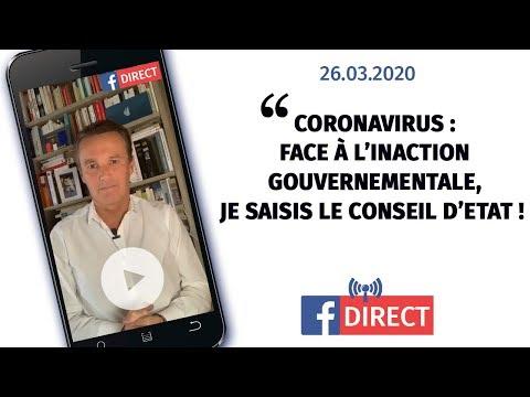 Coronavirus: face à l'inaction gouvernementale, je saisis le Conseil d'Etat !