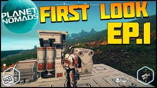 Planet Nomads Ep 1 First Look ! Base Building, Space Survival and MORE ! Z1 Gaming