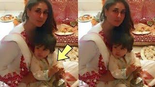 Prince Taimur Ali Khan doing pooja with mom Kareena Kapoor Khan at home  