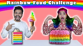 Rainbow Colour Food Challenge | Food Challenge India | Hungry Birds