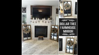DOLLAR TREE FARMHOUSE MIRROR 🚜