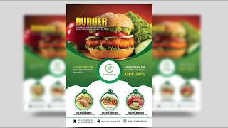How to Create a Professional Flyer in Photoshop | (Restaurant Flyer)