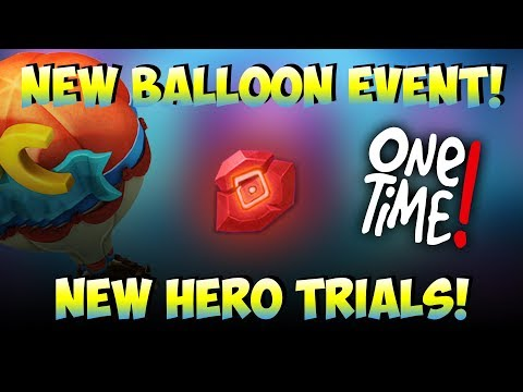 NEW Hero Trials explained & NEW Balloon Event! Castle Clash