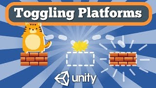 Unity Tutorial How To Create Toggling Platforms Feature For Simple 2D Platformer Game.
