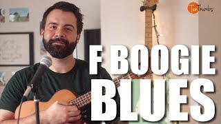 F Blues Shuffle with Turnaround and Scale - Ukulele Blues Tutorial