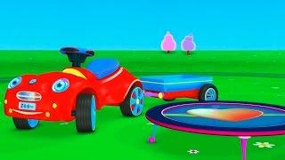 Развивающий 3Д мультик про машинку: Детская Площадка для малышей